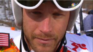 Bode Miller emotional breakdown after his bronze medal winning Olympic race